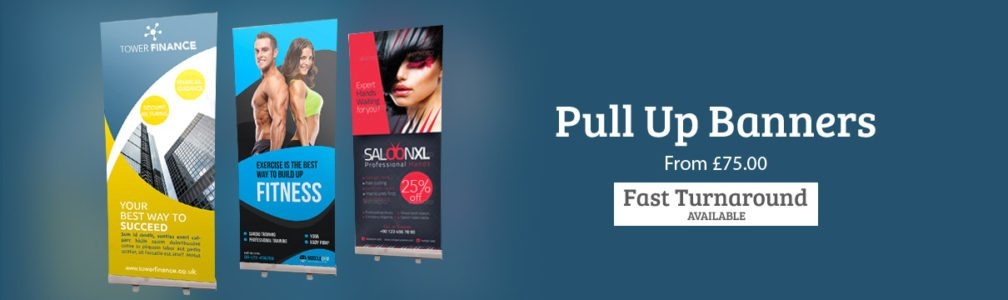 Pullup Roller Banners. Designed and Printed.