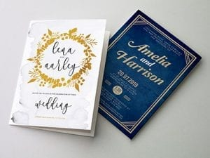 Wedding Printing Folded Invitation