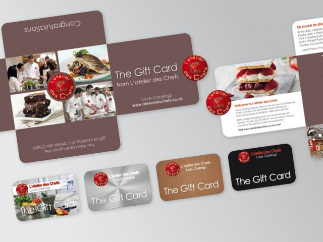 Promotional Mailer and Gift card design Latelier
