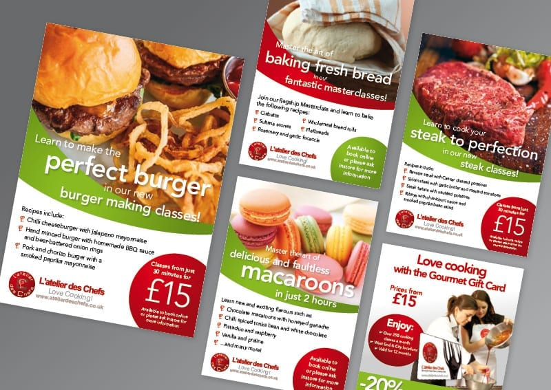 Poster and leaflet design and print Latelier