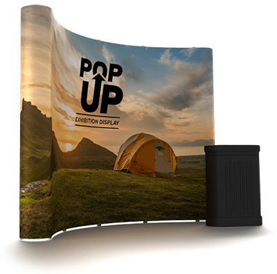 Exhibition Stand pop-up-curved 3x3